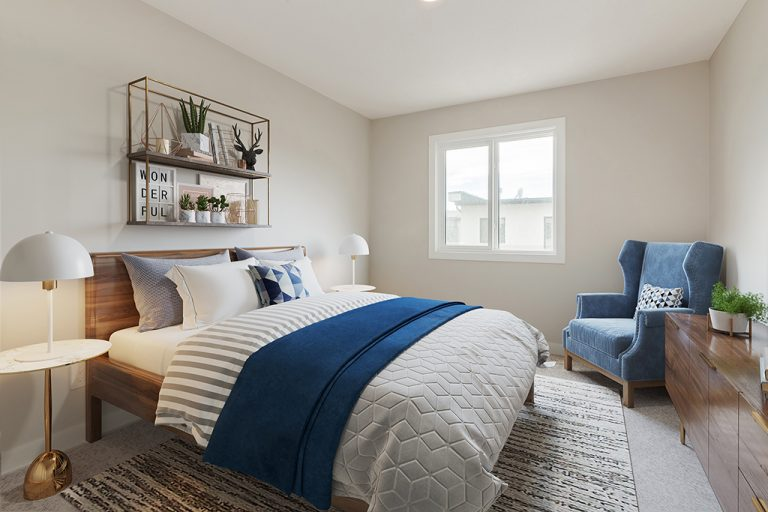 Bedroom in the Hudson West, Perry Model